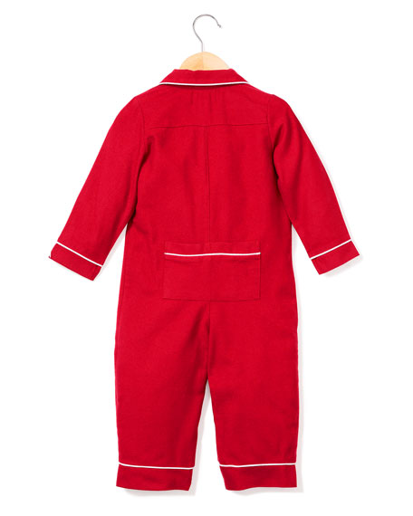 Petite Plume Flannel Collared Coverall, Size 0-24 Months