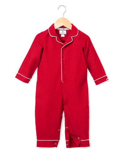 Flannel Collared Coverall  Size 0-24 Months