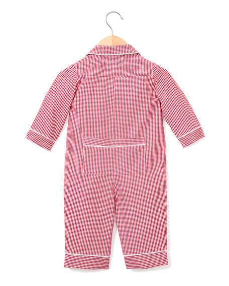 Image 2 of 2: Petite Plume Mini Gingham Coverall, Size 0-24 Months