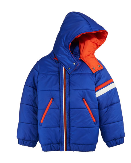 Stefano Ricci Boys' Hooded Zip-Front Ski Jacket, Size 10-14