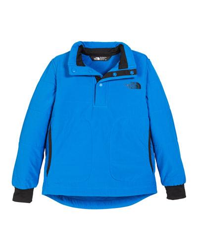 Snap Front Pullover Sweatshirt  Size XXS-XL