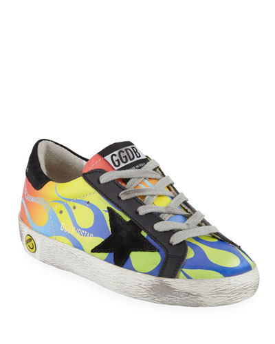 Superstar Leather Flames Low-Top Sneakers  Baby/Toddler
