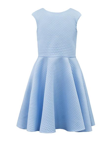David Charles Textured Pique Knit Dress w/ Elastic Back Straps, 8-16