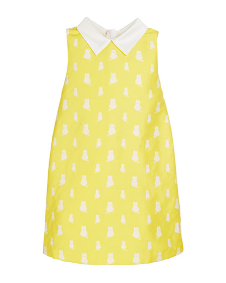 Charabia Lola Kitten Print Sleeveless Dress, Size 4-8