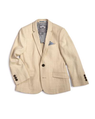 Linen-Blend Sports Jacket  Size 2-14