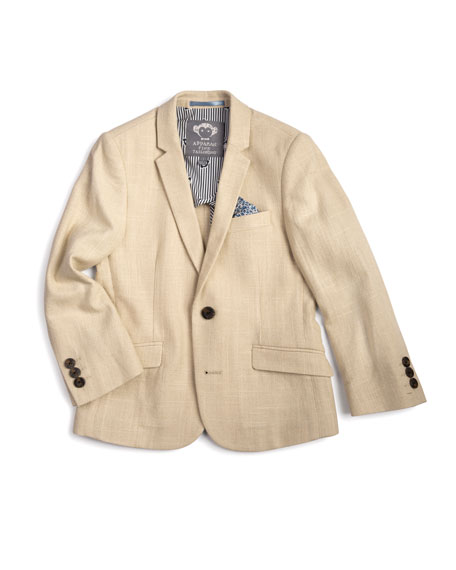 Appaman Linen-Blend Sports Jacket, Size 2-14