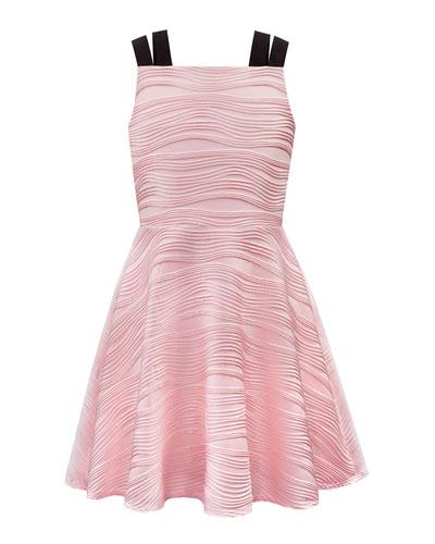Wavy Rib Dress w/ Elastic Straps  Size 8-16