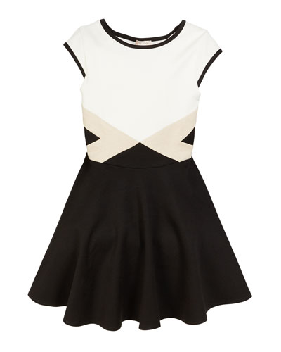 The Vera Colorblock Flare Dress  Size S-XL