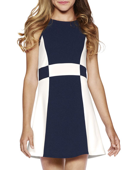 Sally Miller The Peggy Colorblock Halter Dress, Size S-XL