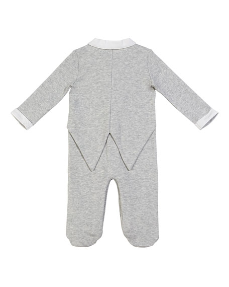Miniclasix Mock Suit Footed Coverall, Size 3-9 Months