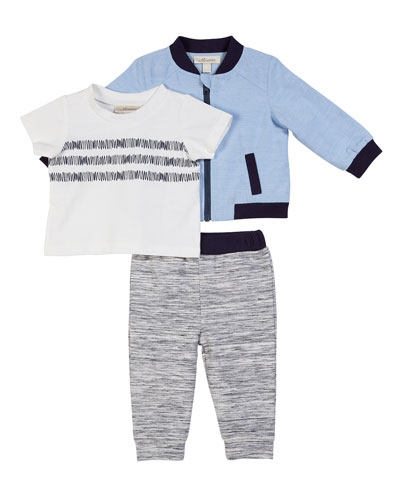 Three-Piece Layette Outfit Set  Size 3-24 Months