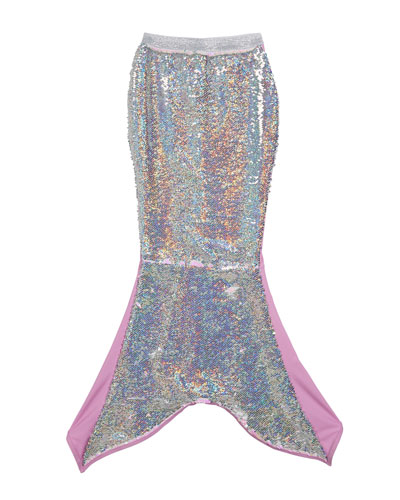Metallic Flip Sequin Mermaid Tail  Size XS-M