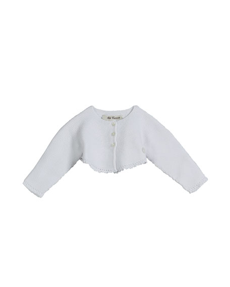 Pili Carrera Knit Cotton Bolero Cardigan, Size 3M-2