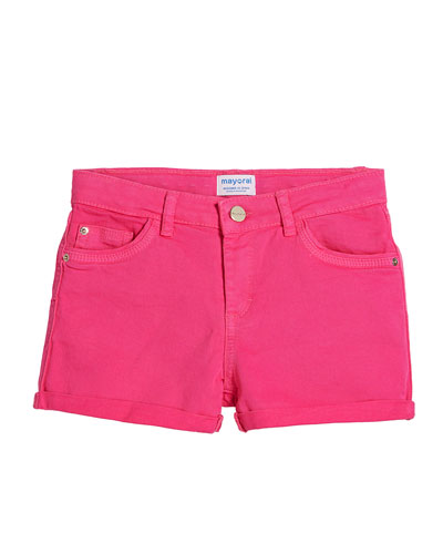 Basic Twill Shorts w/ Metallic Belt  Size 8-16