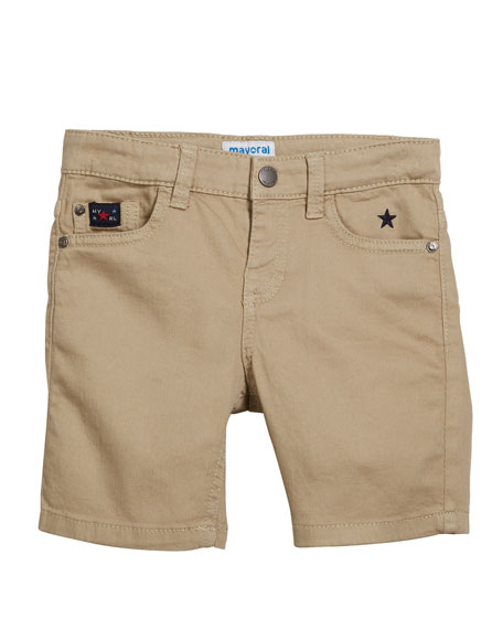 Mayoral Stretch Twill Shorts, Size 4-7