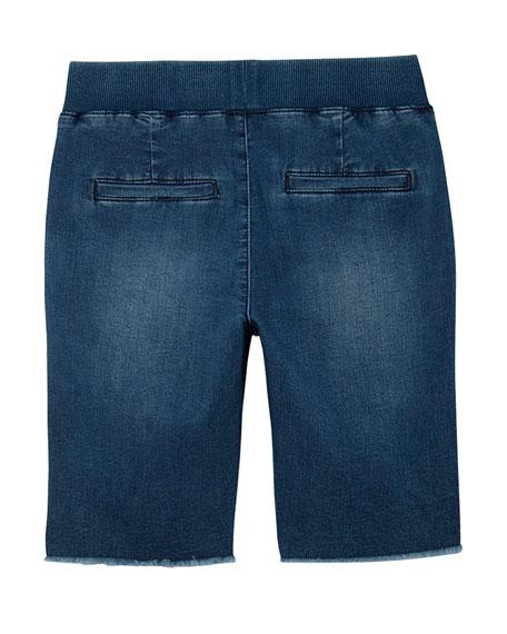 AG Boys' The Brex Denim Bermuda Shorts w/ Knit Waistband, Size S-L