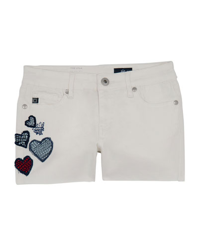 Girls' Lyla Shorts w/ Heart Patches  Size 7-14