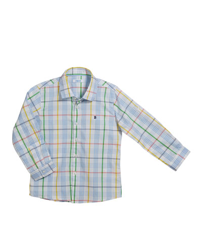 Long-Sleeve Checked Shirt  Size 12-36 Months