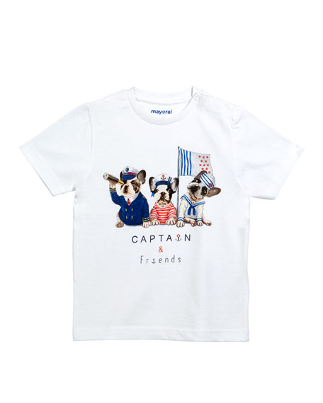Mayoral Sailor Bulldogs Graphic T-Shirt, Size 12-36 Months