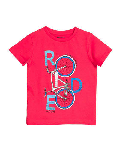 Ride A Bike Graphic Tee  Size 4-7