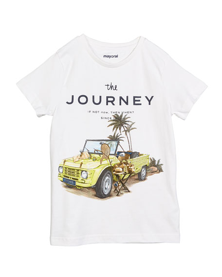 Mayoral The Journey Graphic Short-Sleeve Tee, Size 4-7
