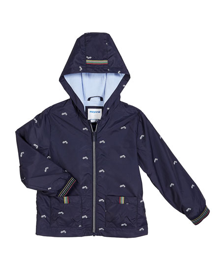 Mayoral Tiny Motorcycle Print Wind Breaker Jacket, Size 12-36 Months