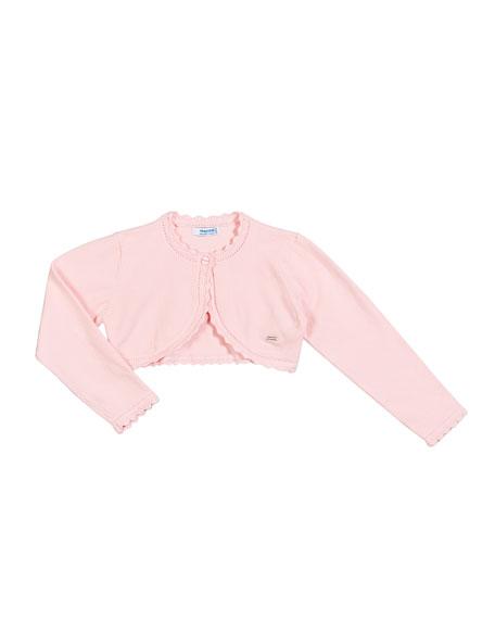 Mayoral Basic Knit Bolero Cardigan, Size 12-36 Months