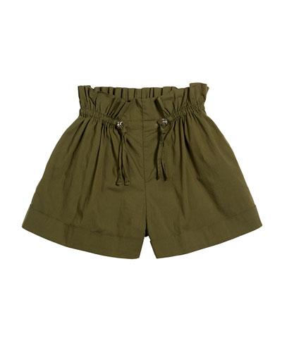 Brenda Paper Bag Cuffed Shorts  Size 7-14