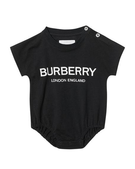 Burberry Berta Logo Bodysuits & Bibs Set, Size 3-9 Months