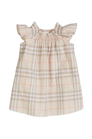 Girls designer Short Sleeve tartan dress size 2,3,4,5,6