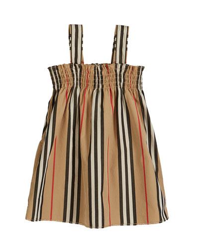 Junia Icon Stripe Smocked Sun Dress  Size 6M-2