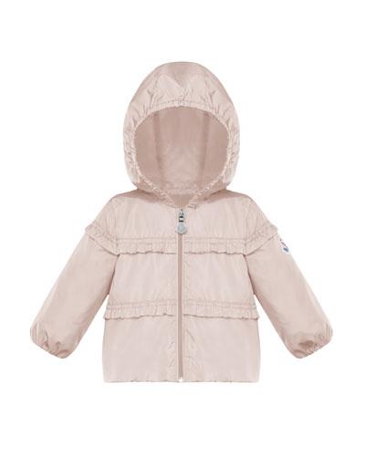 Ruffle-Trim Hooded Jacket  Size 12M-3