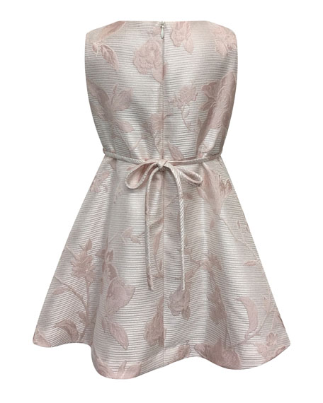 Helena Sleeveless Floral Jacquard Dress, Size 7-14