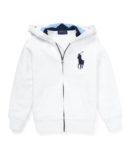 Ralph Lauren Childrenswear Hooded Zip-Up Jacket, Size 2-4