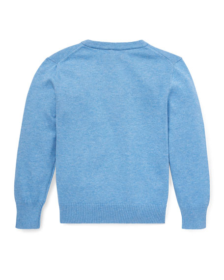 Ralph Lauren Childrenswear Lightweight V-Neck Sweater, Size 5-7