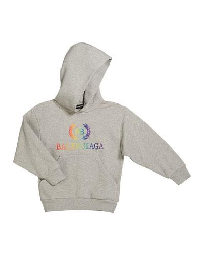 Rainbow Logo Crest Hoodie  Size 2-10