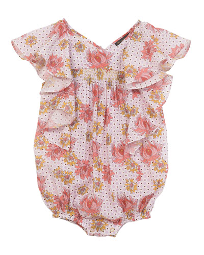 Floral Cotton Bloomers, Size 3-24 Months