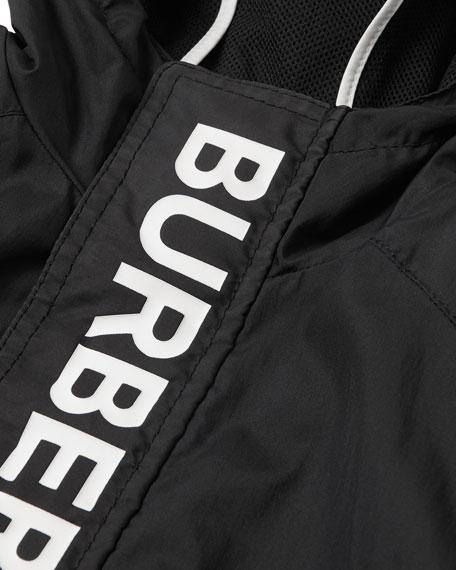 Burberry Austin Hooded Logo Windbreaker, Size 3-14