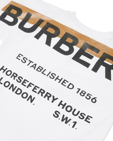 Burberry Tape Logo Pocket Tee, Size 3-14