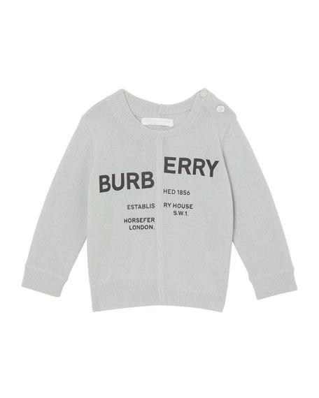 Burberry Jeremy Logo Cashmere Sweater, Size 12M-2