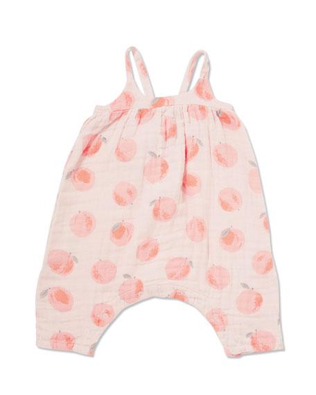 Angel Dear Peachy Muslin Romper w/ Matching Headband, Size 3-24 Months