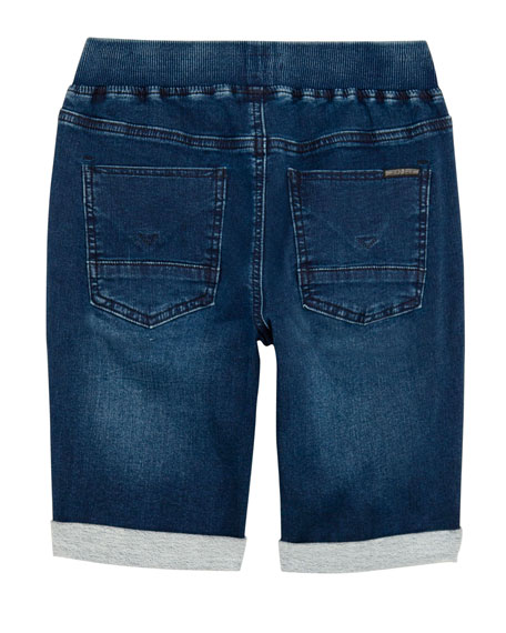 Hudson Boys' Taj Drawstring Denim Shorts, Size S-XL