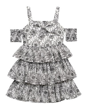 1856f960b5a Bardot Junior Ellis Floral Cold-Shoulder Dress