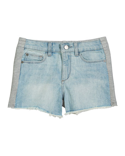 Lucy Denim & Heathered Jersey Shorts  Size S-L