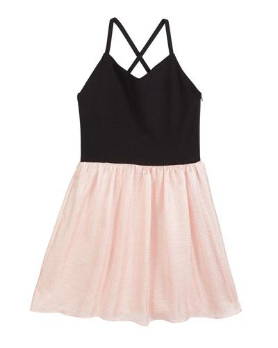 The Alexandra Super Ponti & Chiffon Dress  Size S-XL