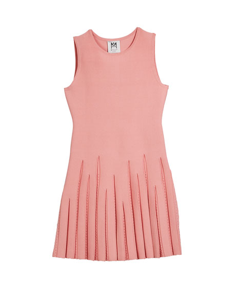 Milly Minis Pointelle Godet Flare Dress, Size 7-16