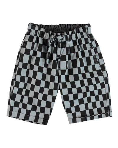 Artis Checkered Shorts  Size 4-12