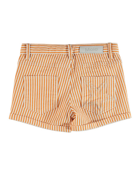 Molo Audrey Striped Shorts, Size 4-14