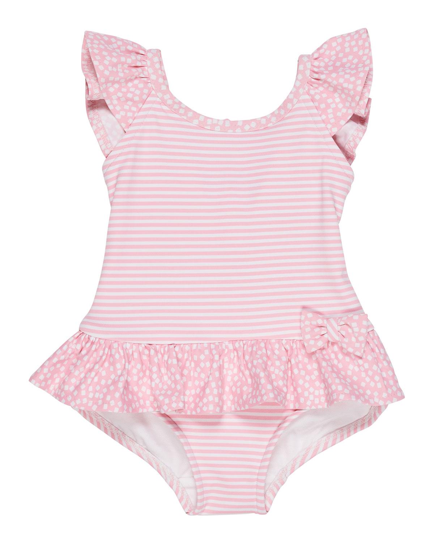 a993bb5706072 Florence Eiseman Stripes   Dots Ruffle-Trim One-Piece Swimsuit