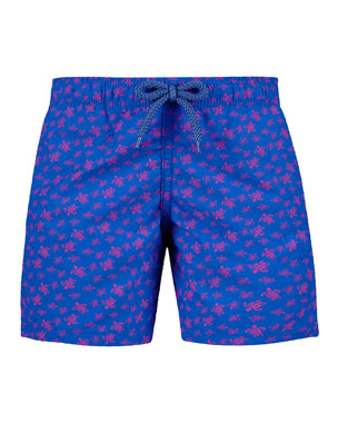935e5da092 Vilebrequin Jim Sea Turtle Print Swim Trunks, Size 2-14. Favorite. Quick  Look